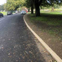 FINISHING WORKS Our expertise includes kerbs, path edgings, block paving, flagstones, final form aggregates, gravel margins, top soiling, turfing and decorative stone amongst other aspects of finishing works.